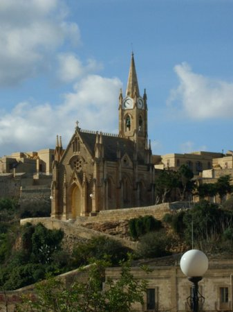 Grand Hotel Gozo : Lourdes Church near Harbour (Balcony View)
