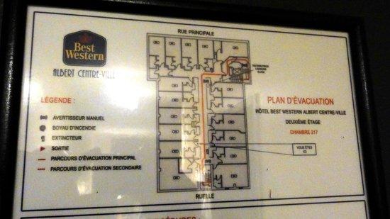 Best Western Plus Hotel Albert Rouyn-Noranda: Floor plan of the second floor