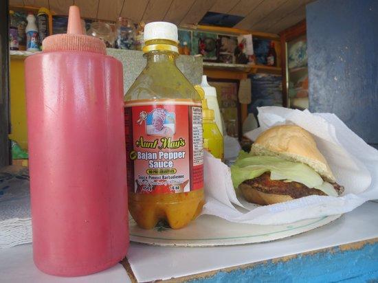 Cuz's Fish Shack: Mahi-mahi burger