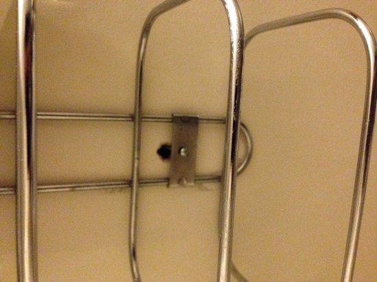 Golden Manor Inn & Suites: Towel rack