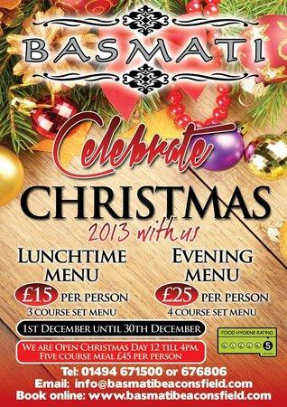 Christmas Restaurant Poster.Christmas Celebration Poster 2013 Picture Of Basmati