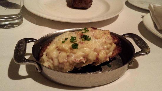 Delmonico Steakhouse: Twice Baked Potato with Vermont White Cheddar