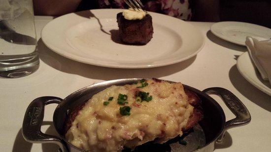 Delmonico Steakhouse: Twice Baked Potato and 7 oz Filet Mignon