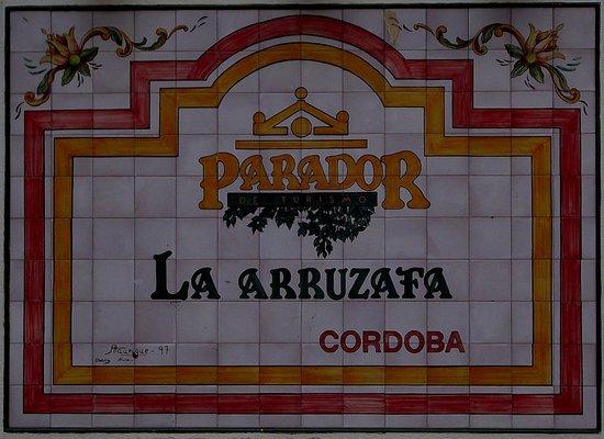 Parador de Cordoba: CARTEL ENTRADA PARADOR