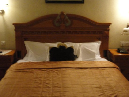 Imperial Royale Hotel: My Fat Monkey pillow pet catching some Z's at the imperial royal hotel