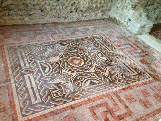 Romano-British House: Original mosaic tiles