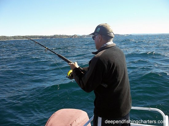 Family fun picture of deep end fishing charters port for Deep sea fishing trips