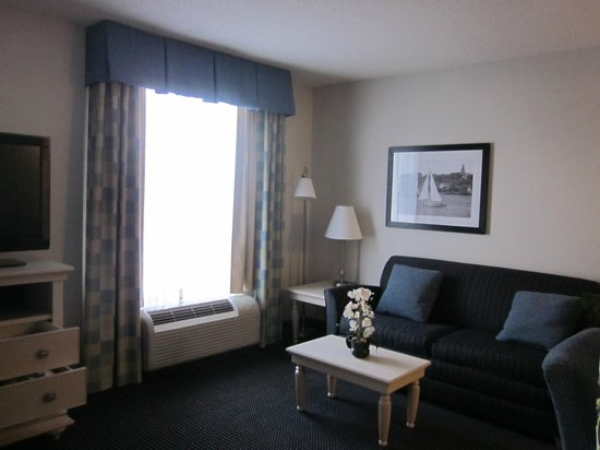 Hampton Inn and Suites Cape Cod - West Yarmouth: Living room area