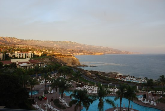 Terranea Resort : View from 7th floor elevator lobby - main building