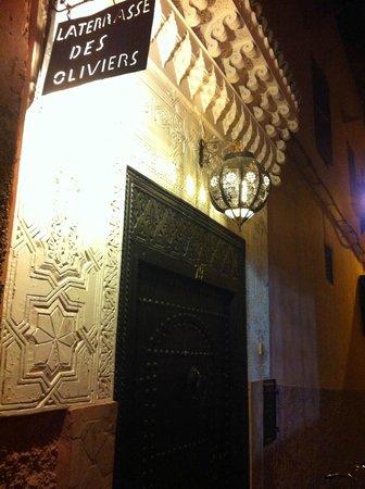 Riad La Terrasse des Oliviers: Entrée extérieure