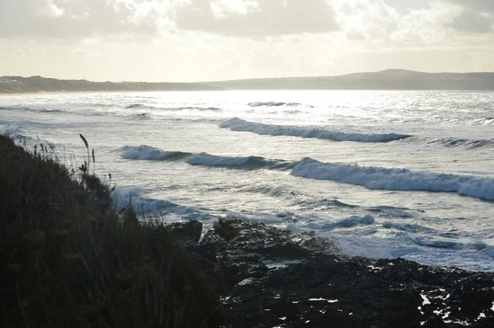 Godrevy Head: View from the headland towards St Ives