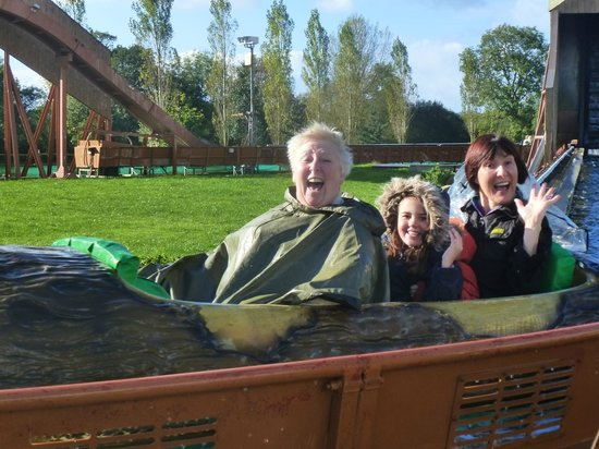 Crealy Adventure Park & Resort: The log flume.  Thrilling ride for everyone.