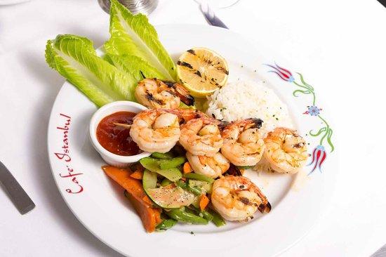 Istanbul Cafe: Grilled Shrimp