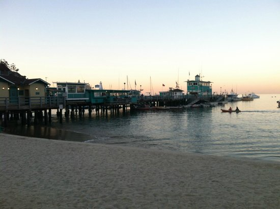 Avalon Pier across from the Pavilion Hotel