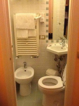 Hotel Centrale: Dettaglio del bagno della stanza n. 26