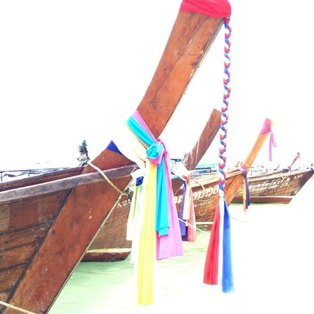Rayavadee Resort: botes en la playa