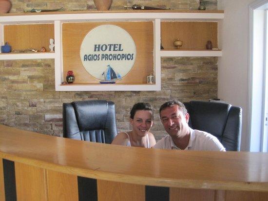 Agios Prokopios Hotel: Effie & Vaggelis
