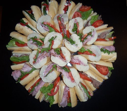 Third Street Deli: Who needs a center piece with a sandwich tray like this?