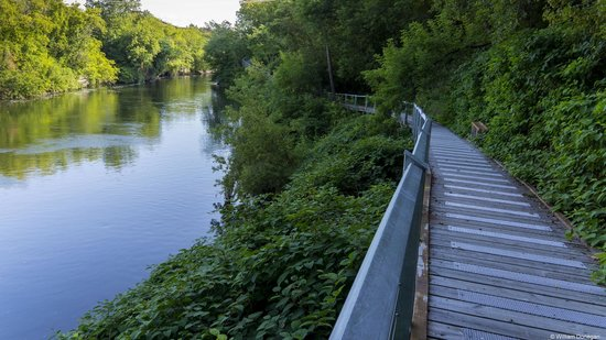 Magog River Gorge : Upper Walkway