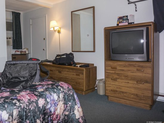 Turf & Spa Motel: TV and Room