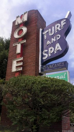 Turf & Spa Motel: Classic Sign