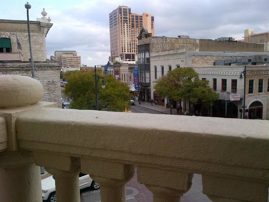 The Driskill: View of 6th Street from the balcony