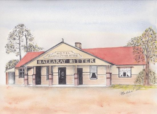Amphitheatre Hotel B&B: A sketch of the historic hotel