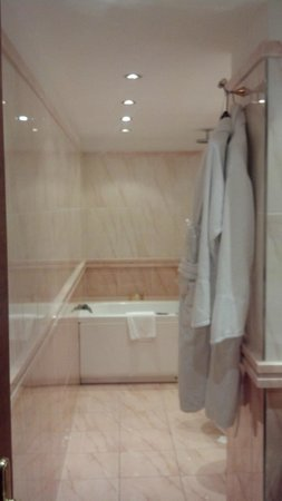 Swiss Diamond Hotel Lugano: Bath, shower.