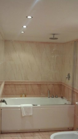 Swiss Diamond Hotel Lugano: Bath. overhead shower, bidet