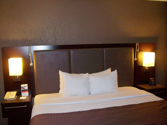 Holiday Inn \u0026 Suites Phoenix Airport North: King size bed with reading lights. Holiday Inn \u0026 Suites Phoenix Airport North: vanity area in bedroom & King size bed with reading lights - Picture of Holiday Inn \u0026 Suites ...