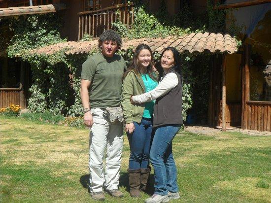 La Casa de Barro Lodge & Restaurant: Jardin con vista espectacular del paisaje de Chinchero