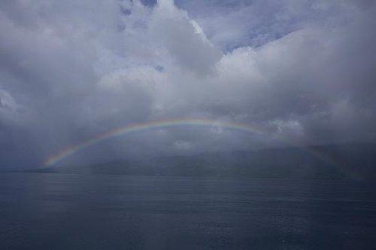 Rainbow on way back to Paradise Taveuni