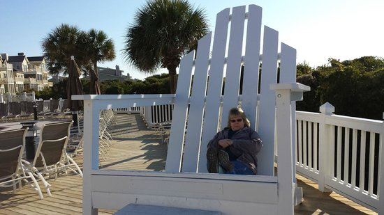 Wild Dunes Resort : nice place to have a rocking chair.  Add some cusions and your be in business.