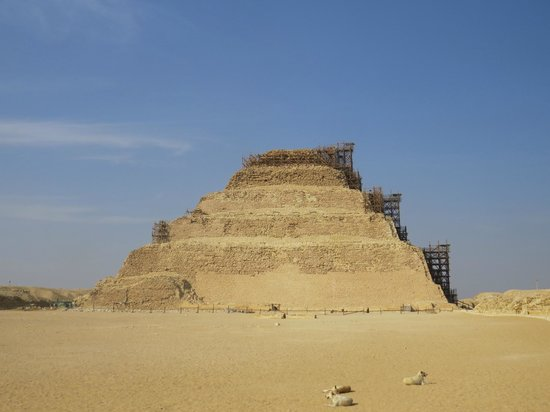 Memphis and Sakkara : sakkara  - the oldes step pyramid in egypt they tell me