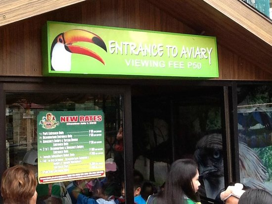 Rainforest Park Cebu: Entrance of the Aviary