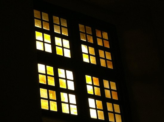 Mission Dolores: From inside the Mission church, sun shining through the windows!