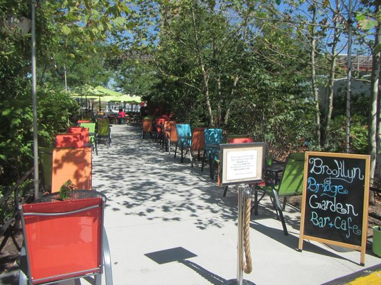 Photo of American Restaurant Brooklyn Bridge Garden Bar at 12 Furman Street, Pier 1, Brooklyn, NY 11201, United States