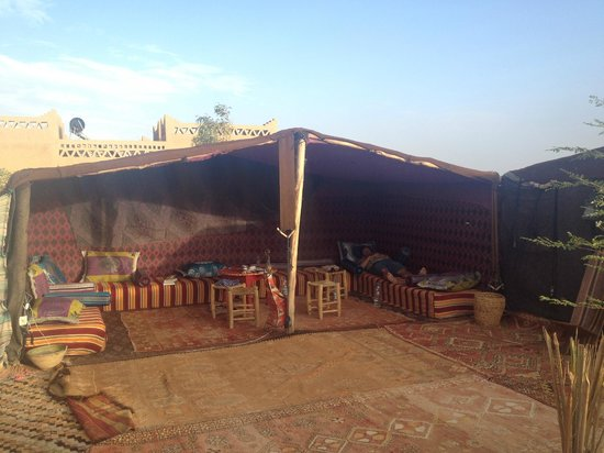 Cafe Tissardmine: berber tents hang out area - great moroccan vibe!