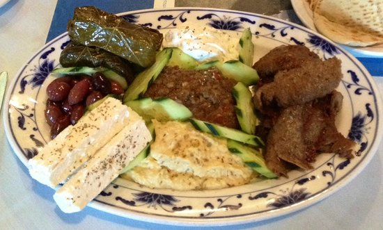 It's Greek to Me: appetizer platter (with substitution)