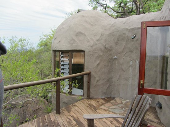 Manyatta Rock Camp: Room Balcony & Outdoor Shower