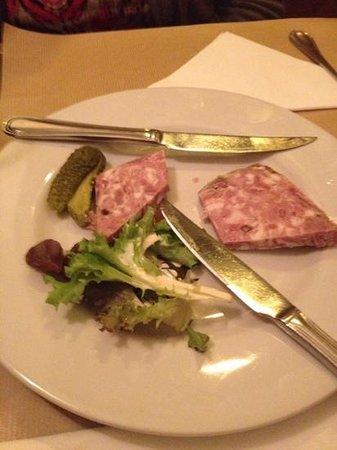 La Dauphine: appetizer - pate