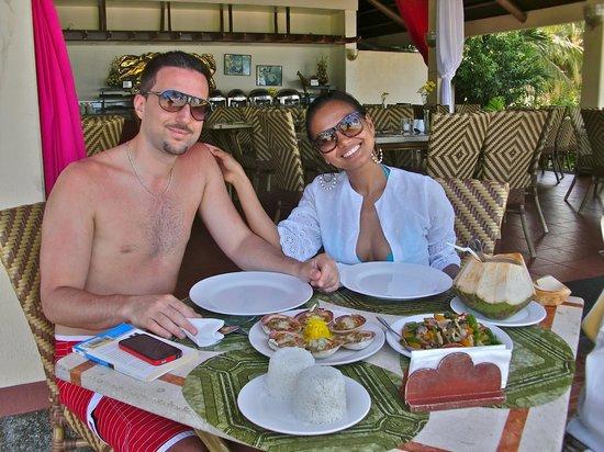 Bohol Beach Club: My husband and I loved the food at BBC.