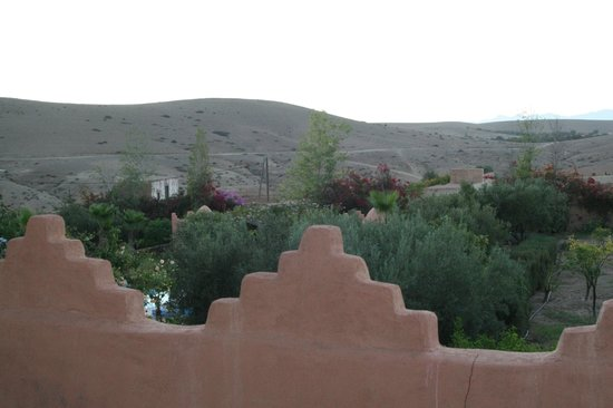 Kasbah de Talamanzou : la terrasse