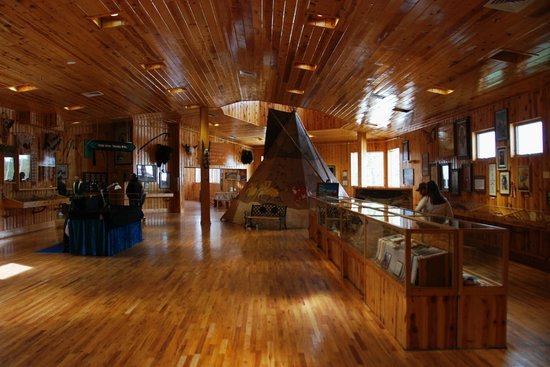 Native American Educational and Cultural Center: beautiful wooden gallery