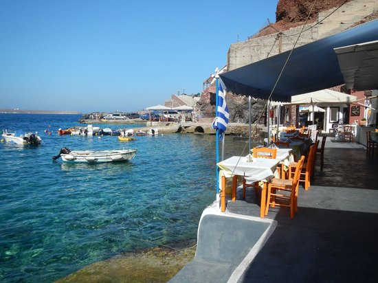 Karterádhos, Grèce : What a great spot for lunch!