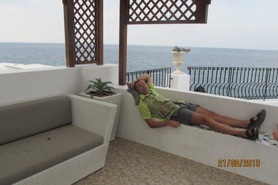 Hotel Villaggio Stromboli: на верхней террасе