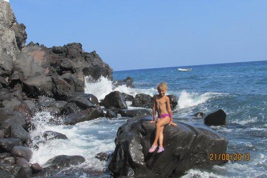 Hotel Villaggio Stromboli: пляж отеля