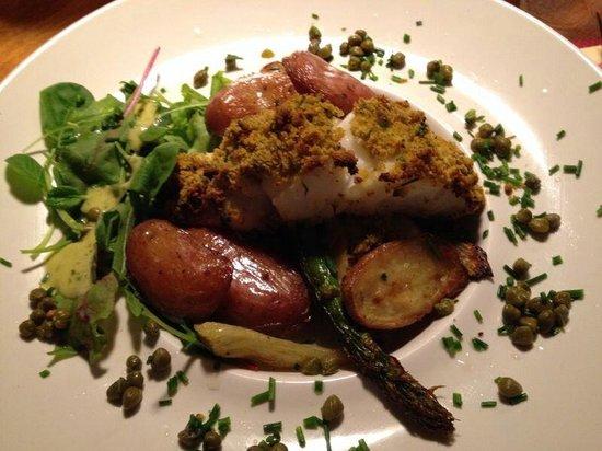 Brasserie de Brakke Grond : Fisch ( tipo baccalà)