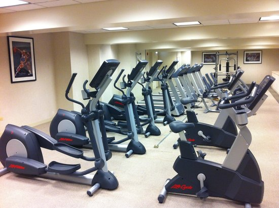 Holiday Inn Chicago Mart Plaza River North : Gym with cardio equipment