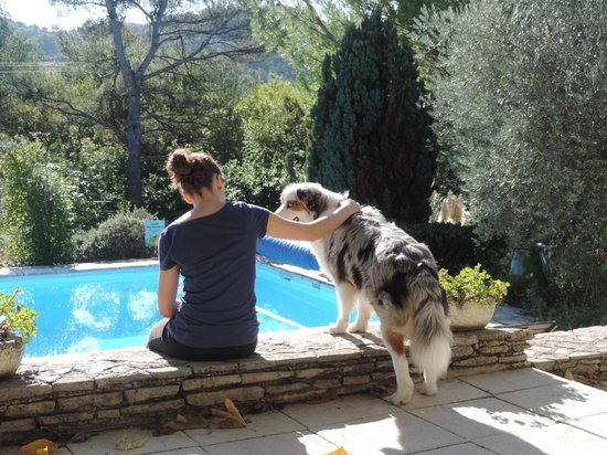 l'Escleriade: une vue du bord le la terrasse